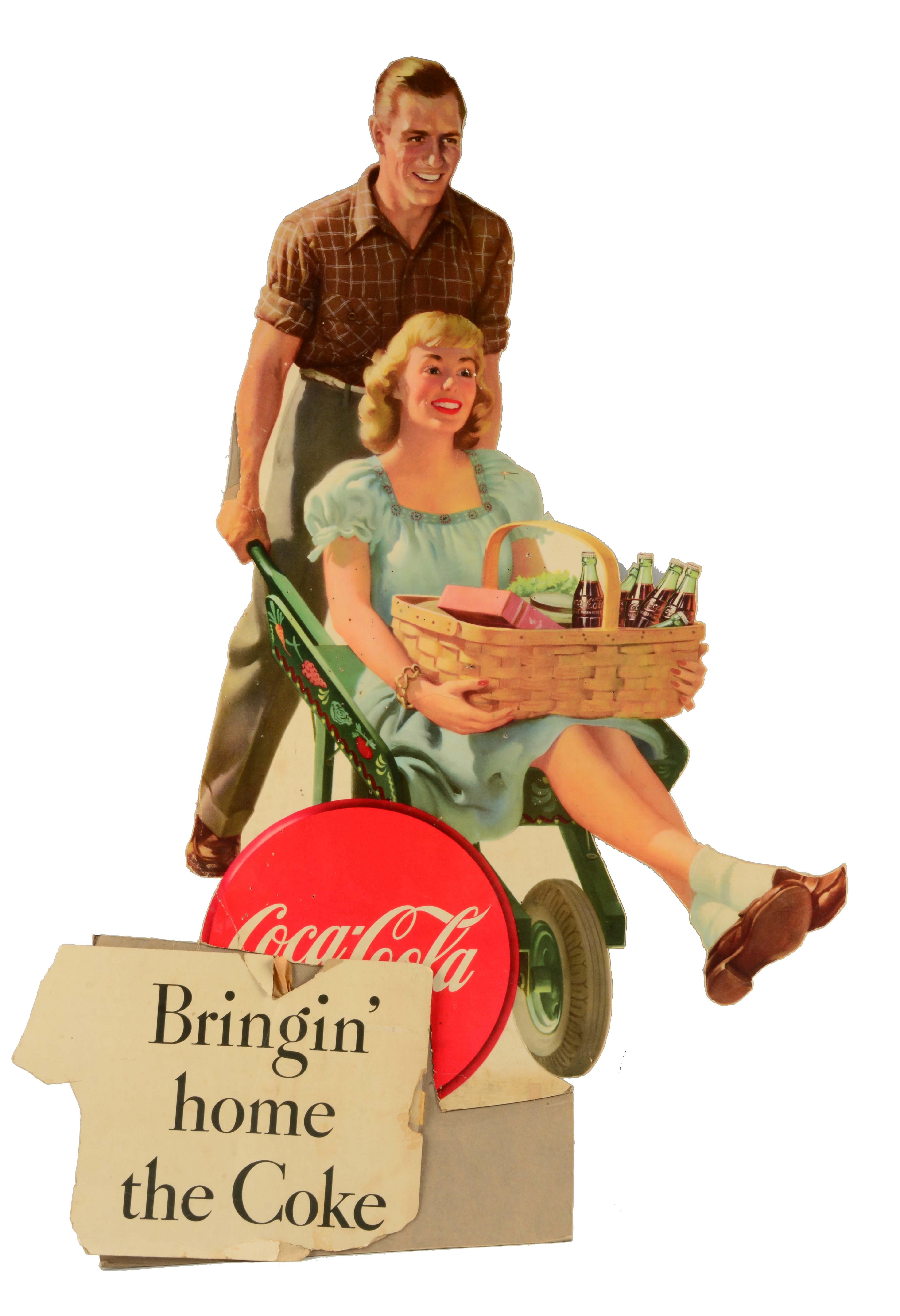 1950's Unusual Coca-Cola Cut Out.