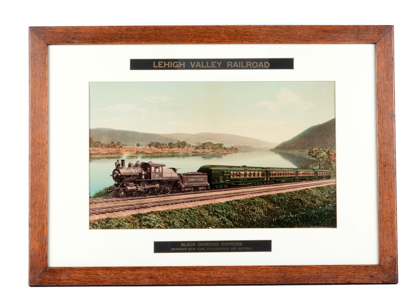 Framed Lehigh valley Railroad Photo.