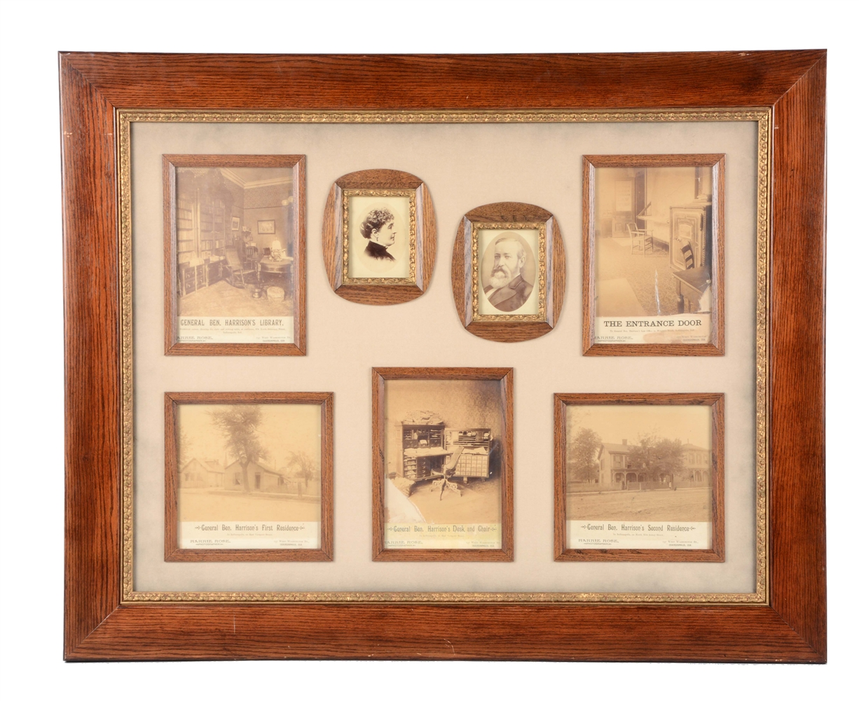General Benjamin Harrison Framed Photos.