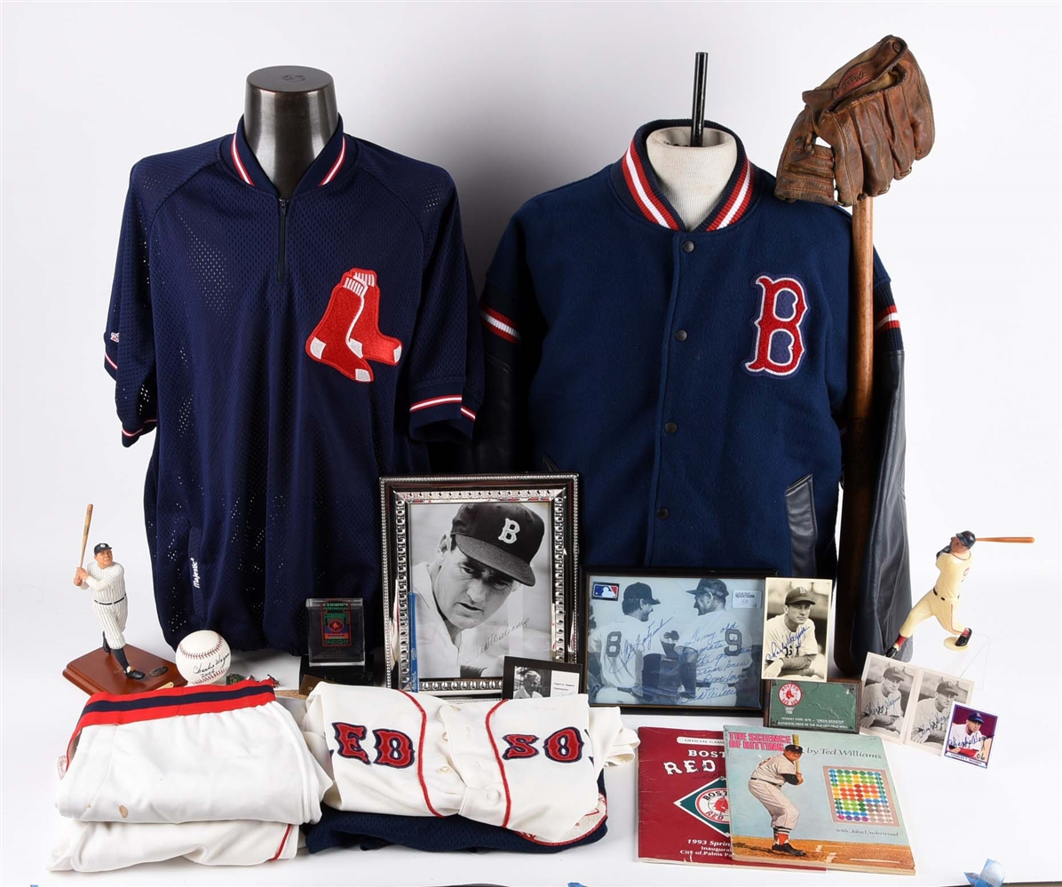 Charlie Wagner Estate Collection Including Boston Red Sox Ted Williams Items.