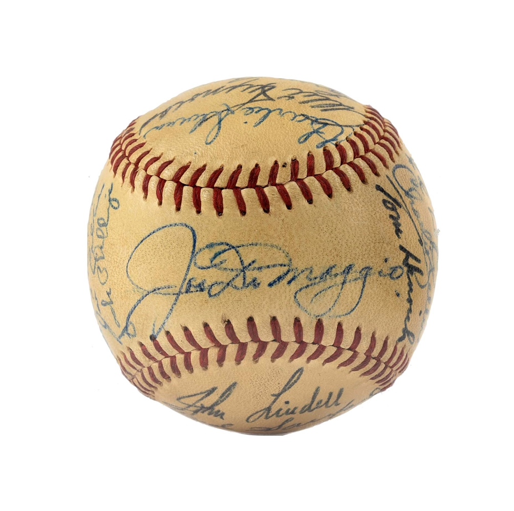 1949 High Grade World Champion New York Yankee Team Signed Baseball.
