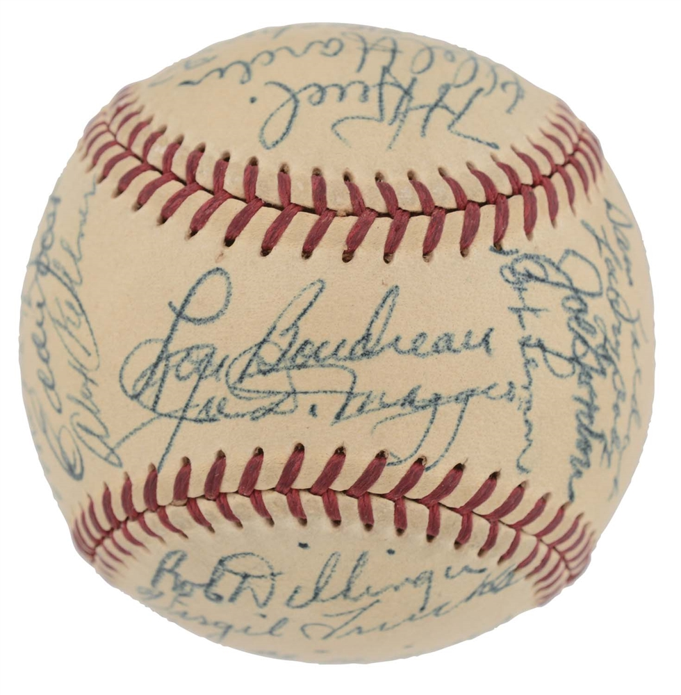 1949 American League All Star Team Signed Baseball.