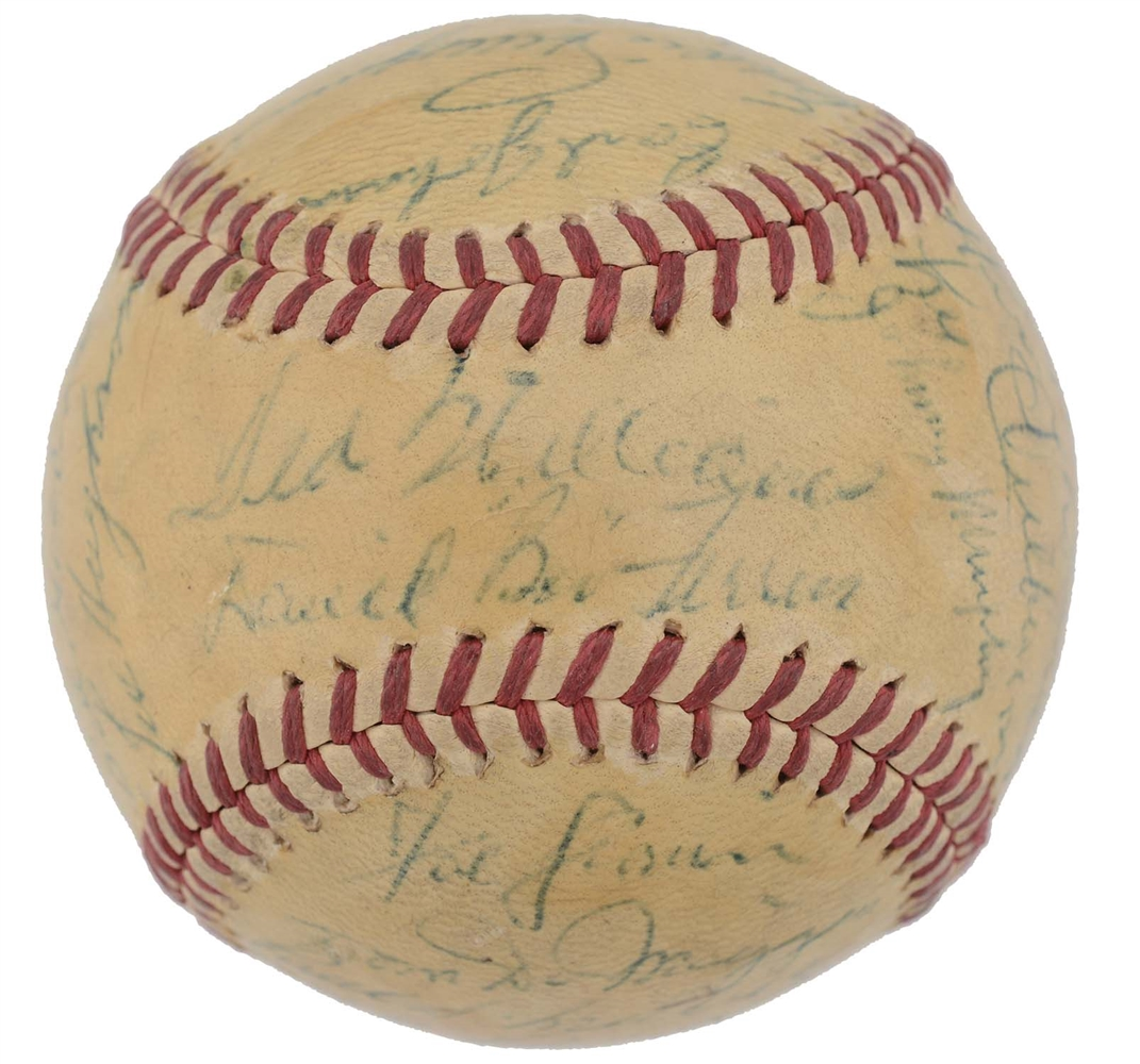 1947 Boston Red Sox Team Signed Baseball w/ Ted Williams Signiure.