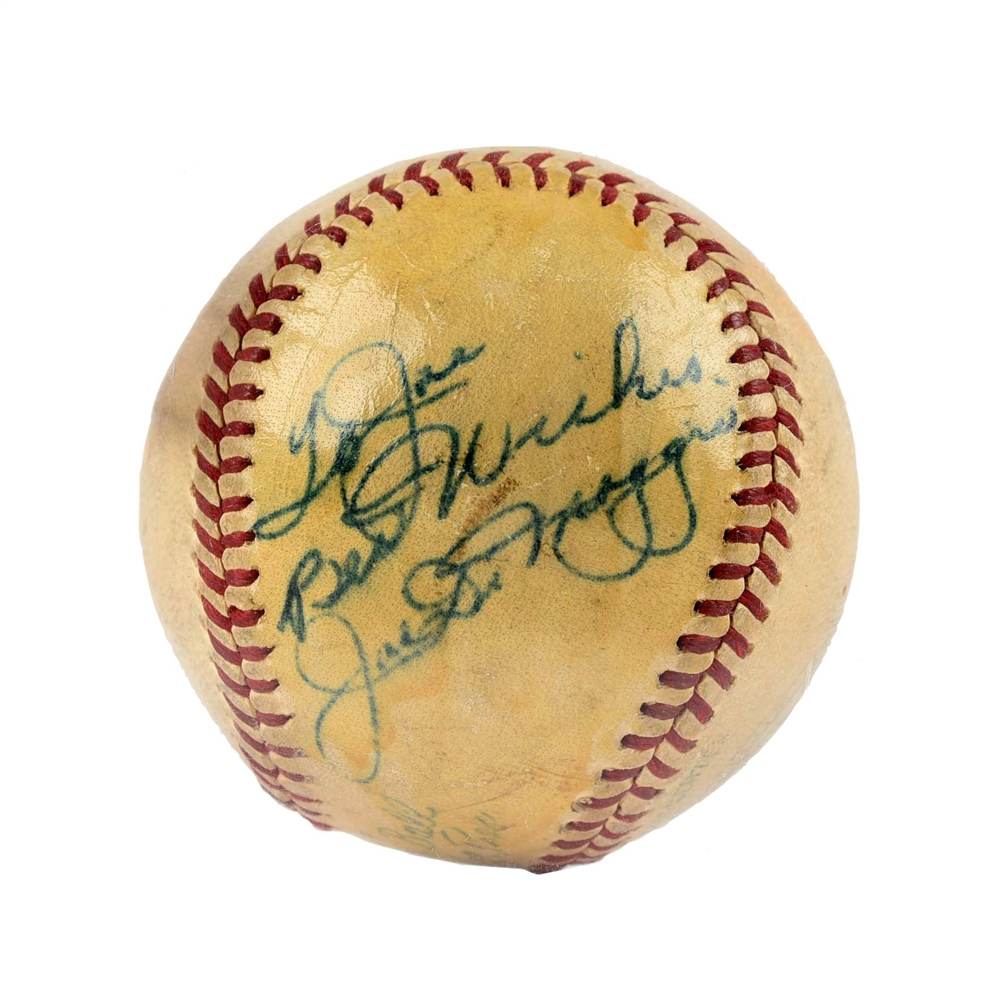 Joe DiMaggio & Joe Page Vintage Signed Baseball.