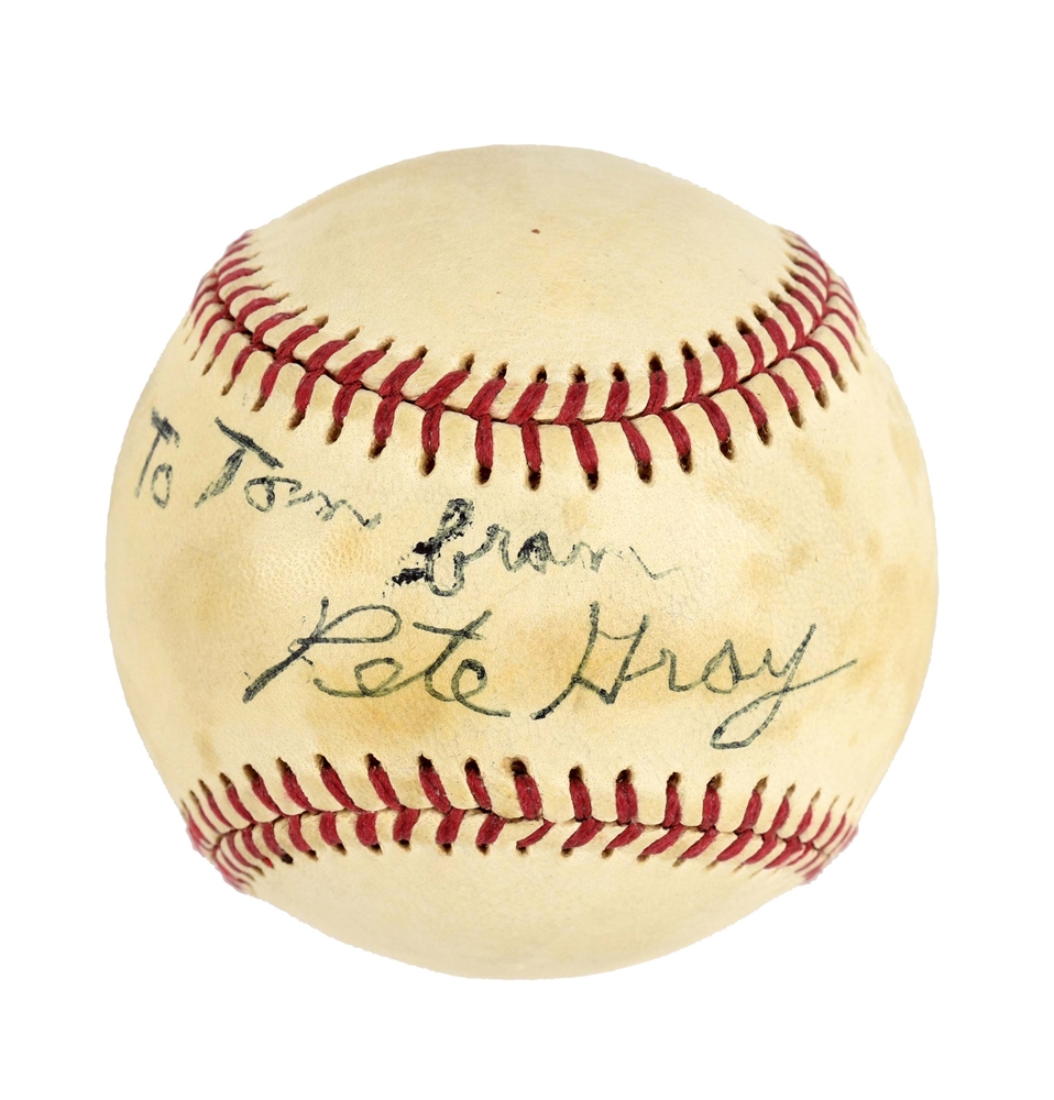 Pete Gray Single Signed Baseball.