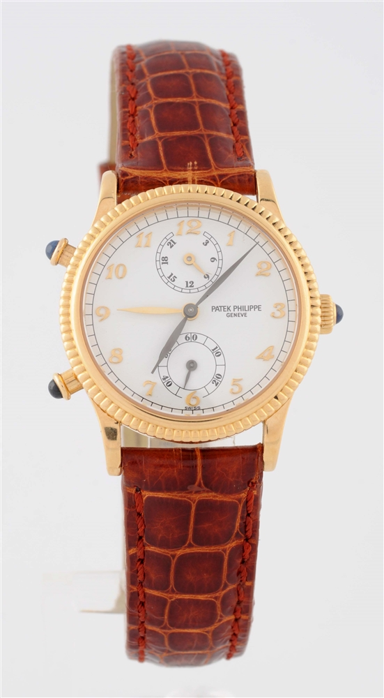 Patek Philippe Yellow Gold Two Register Chronograph