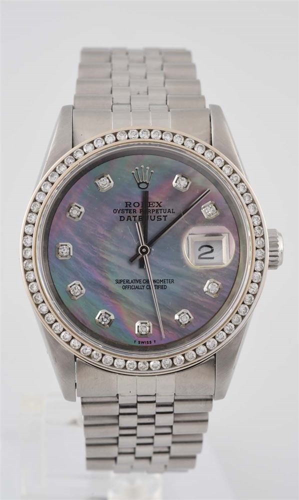 Rolex Datejust Diamond Dial and Bezel