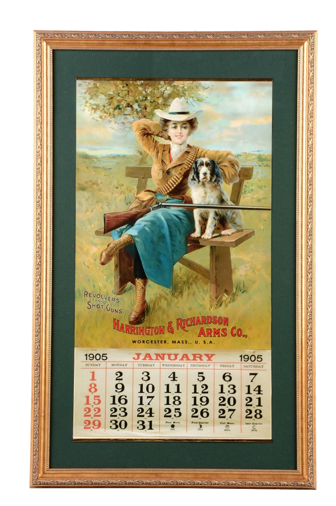 1905 Harrington & Richardson Arms Co. Framed Calendar.