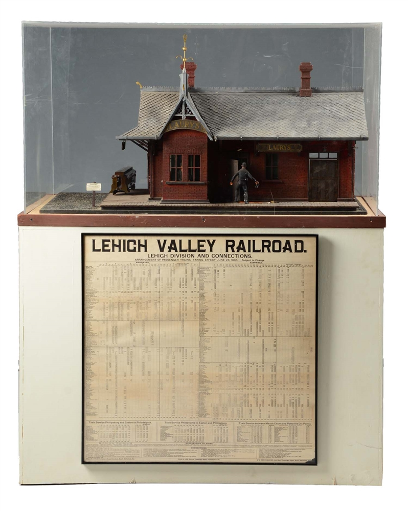 Leigh Valley Laury's Train Station Model.