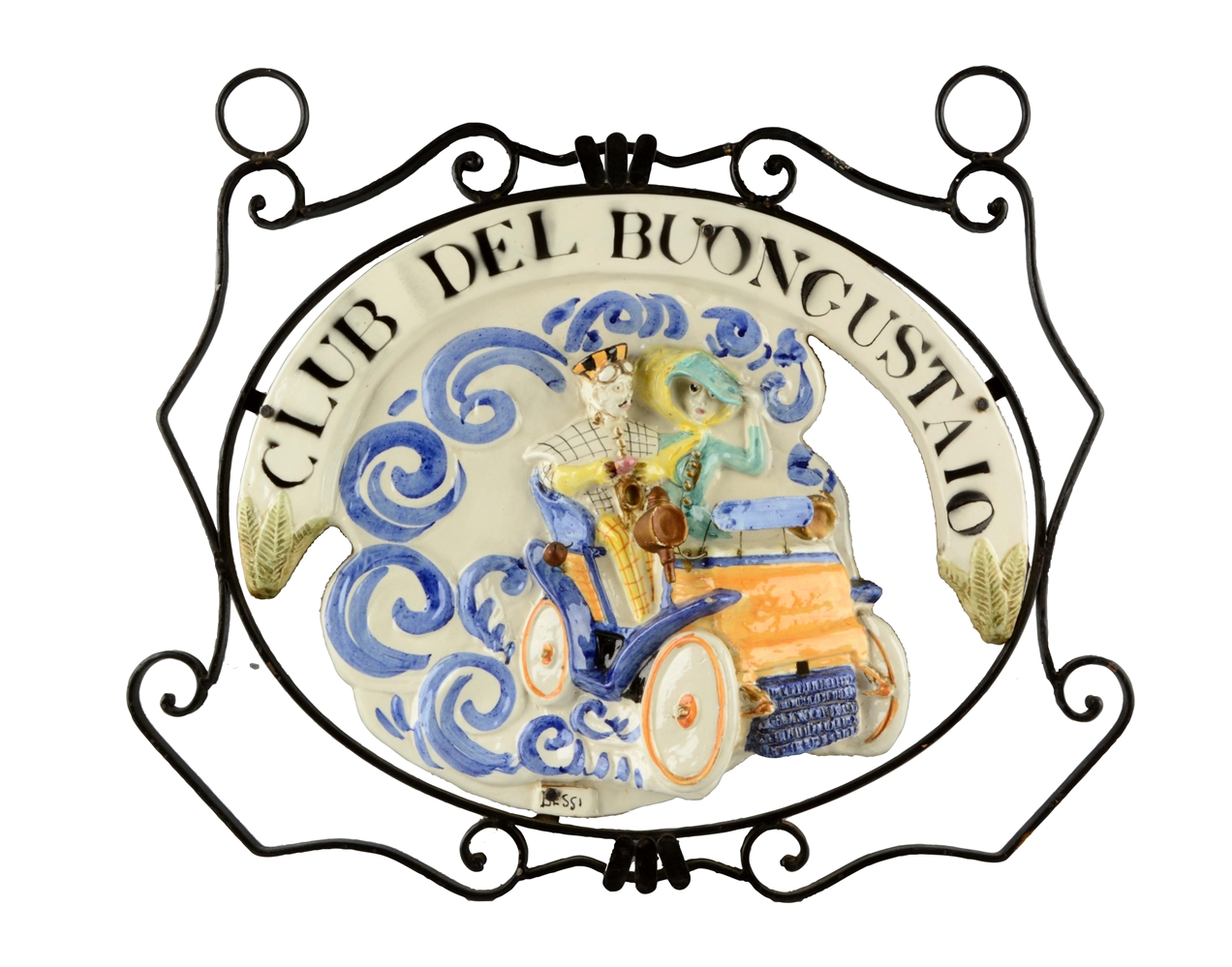 Club Del Buongusta Ceramic Sign.