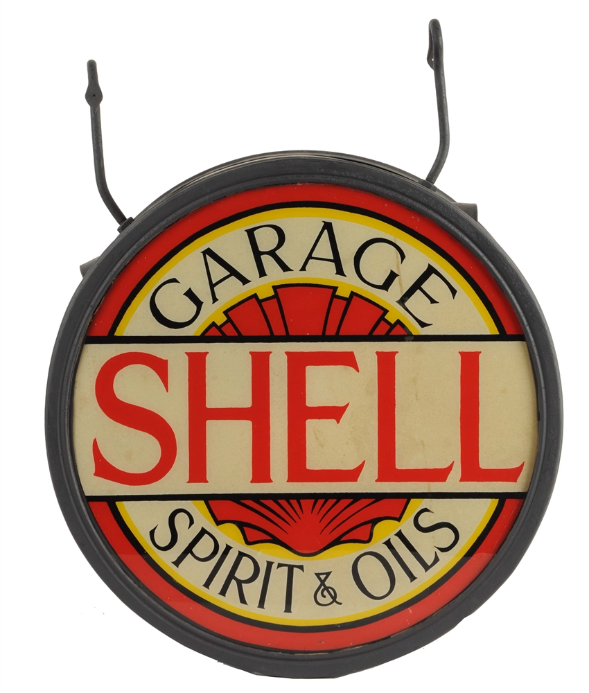 Shell Garage Spirit & Oils Lighted Sign.