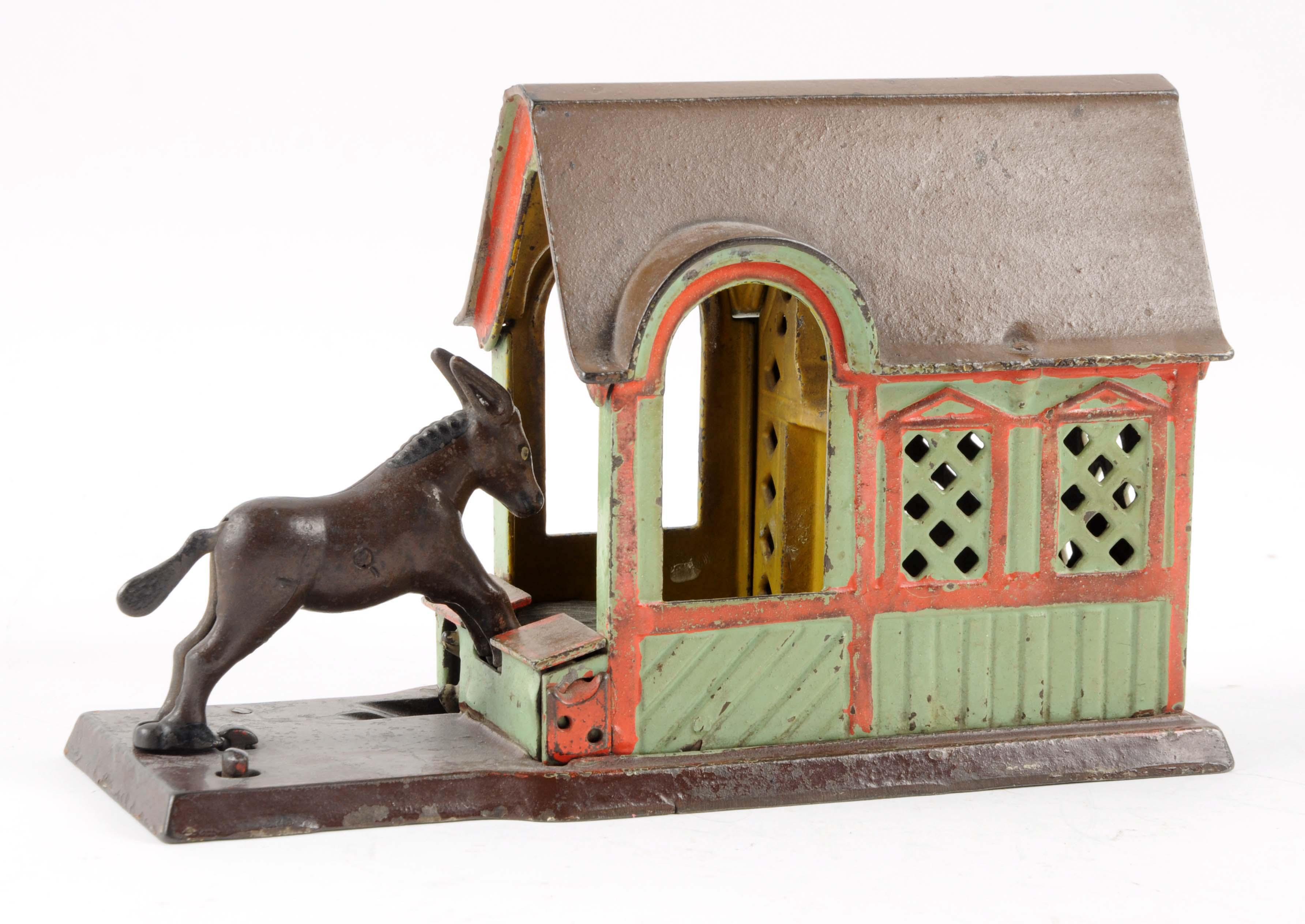 Lot Detail J Amp E Stevens Mule Entering Barn Cat Iron