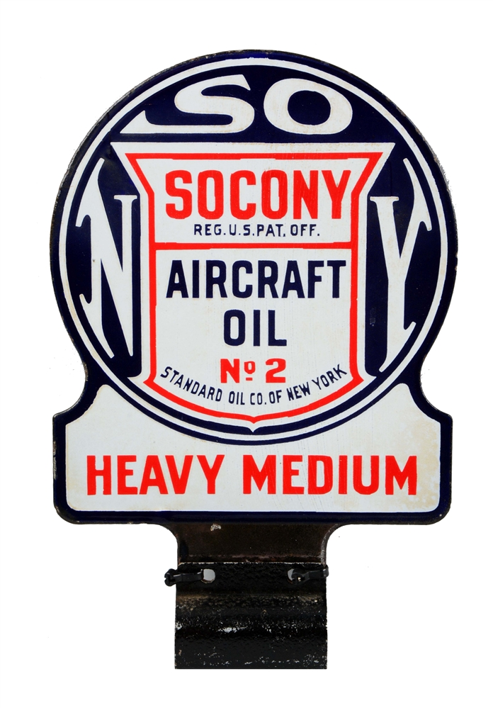 Socony Aircraft Oil No.2 Heavy Medium Diecut Lubster Paddle Sign.