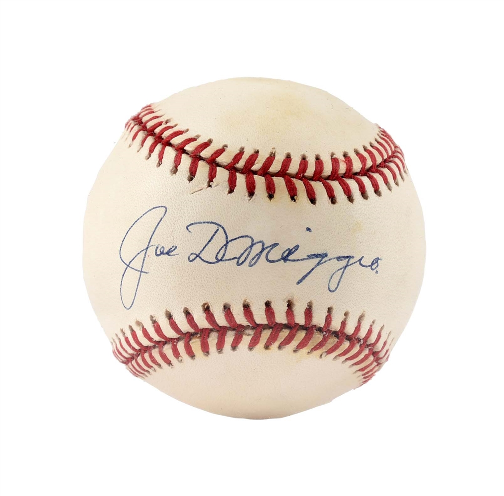 Joe DiMaggio Single Signed Baseball.