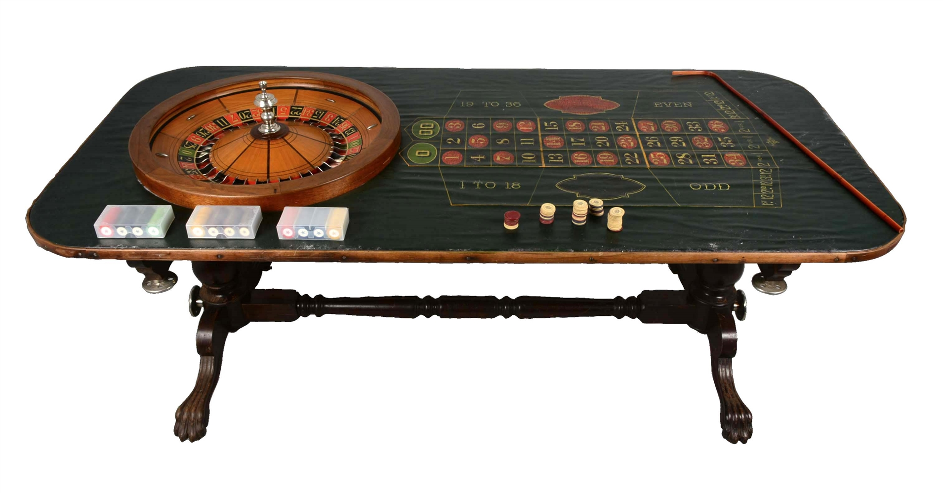 **Early Rocky Mountain Roulette Table.