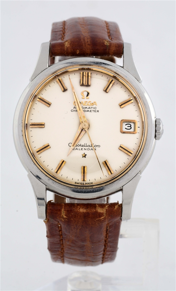 Omega Constellation on Strap Two Tone Copper Hour Markers