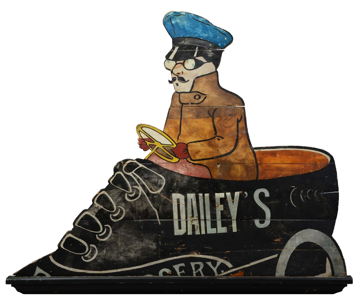 Daileys Grocery Wooden Advertising Trade Sign.