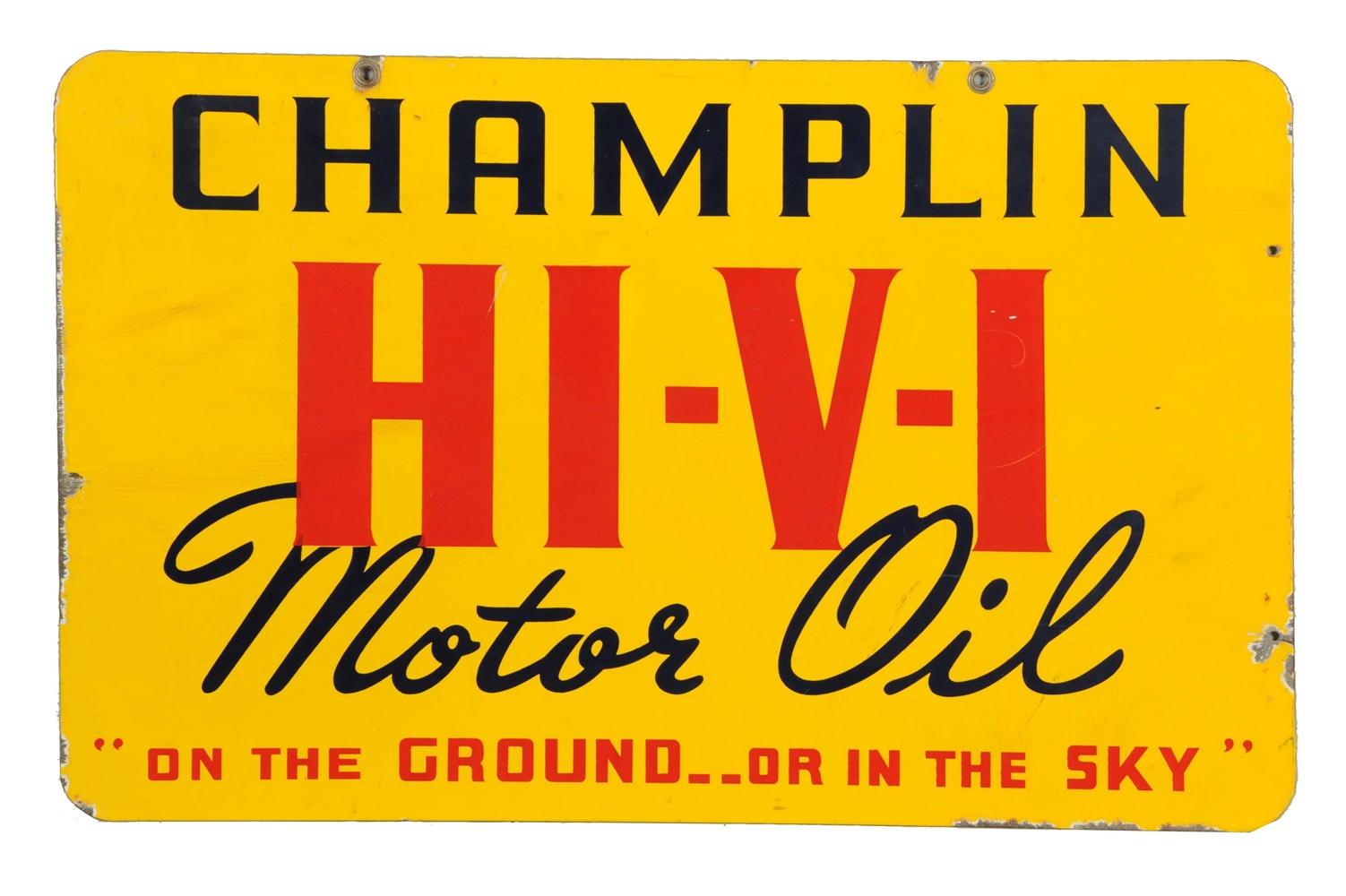 Champlin HI-V-I Motor Oil Porcelain Sign.