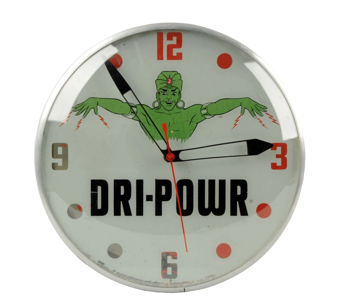 Dri-Power w/ Genie Logo Pan Clock.