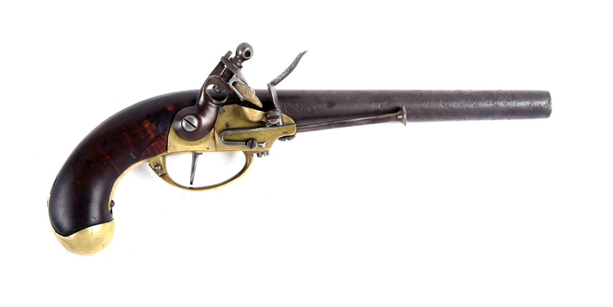 (A) U.S. Model 1799 First Contract North & Cheney Flintlock Single Shot Martial Pistol, SN. 390.