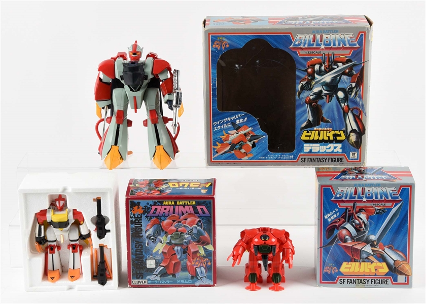 Lot of 3:  Aura Battler Billbine DX, Standard & Drumlo.