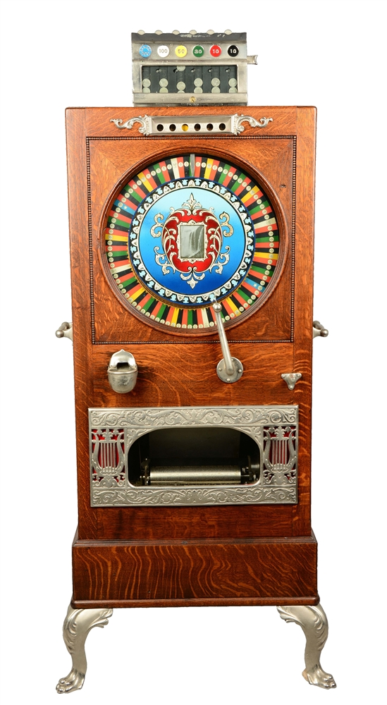 **5¢ Banner Novelty Niagra Musical Upright Slot Machine.