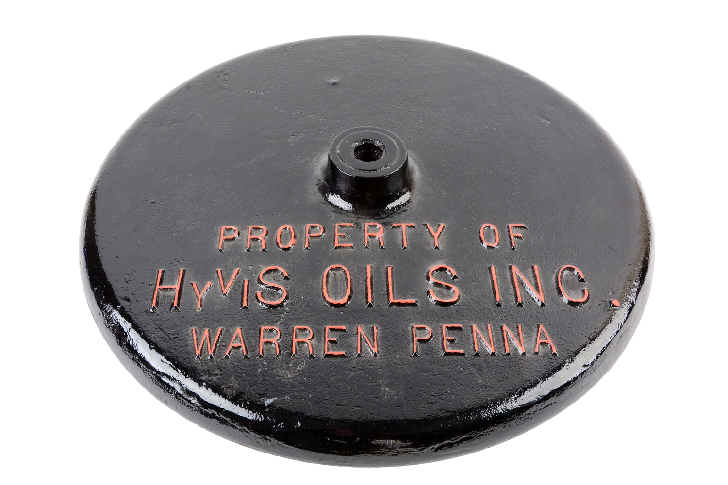 HYVIS Oil Cast Iron Sign Base.