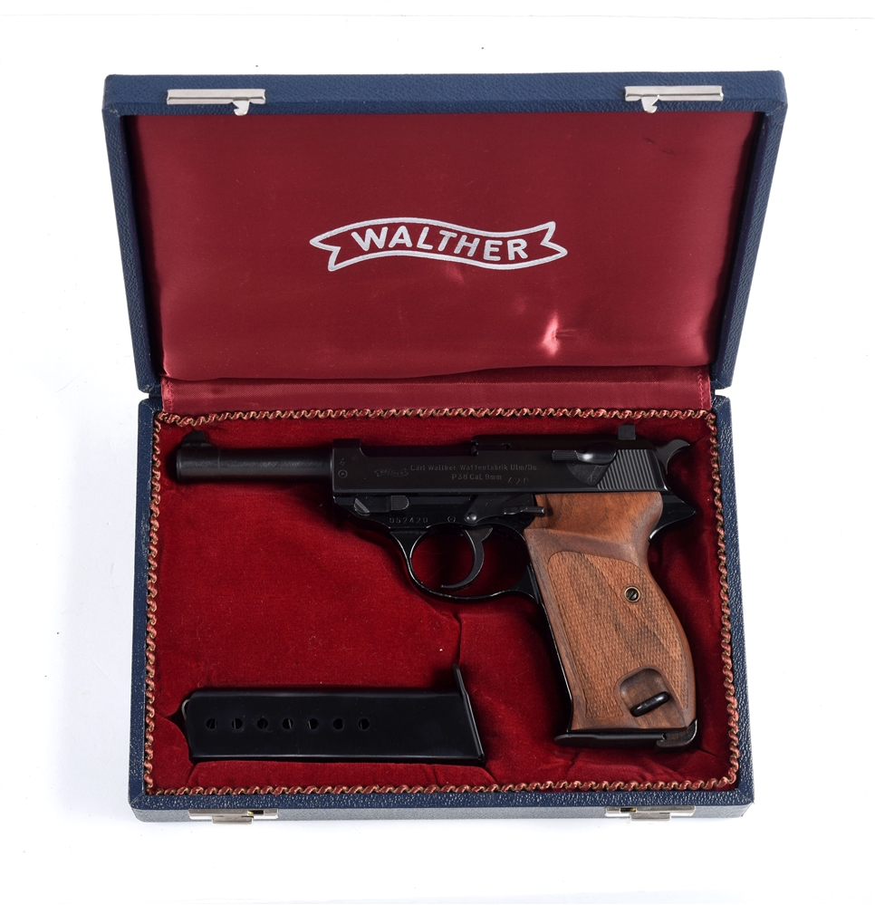 (M) Cased Walther P38 Semi-Automatic Pistol.