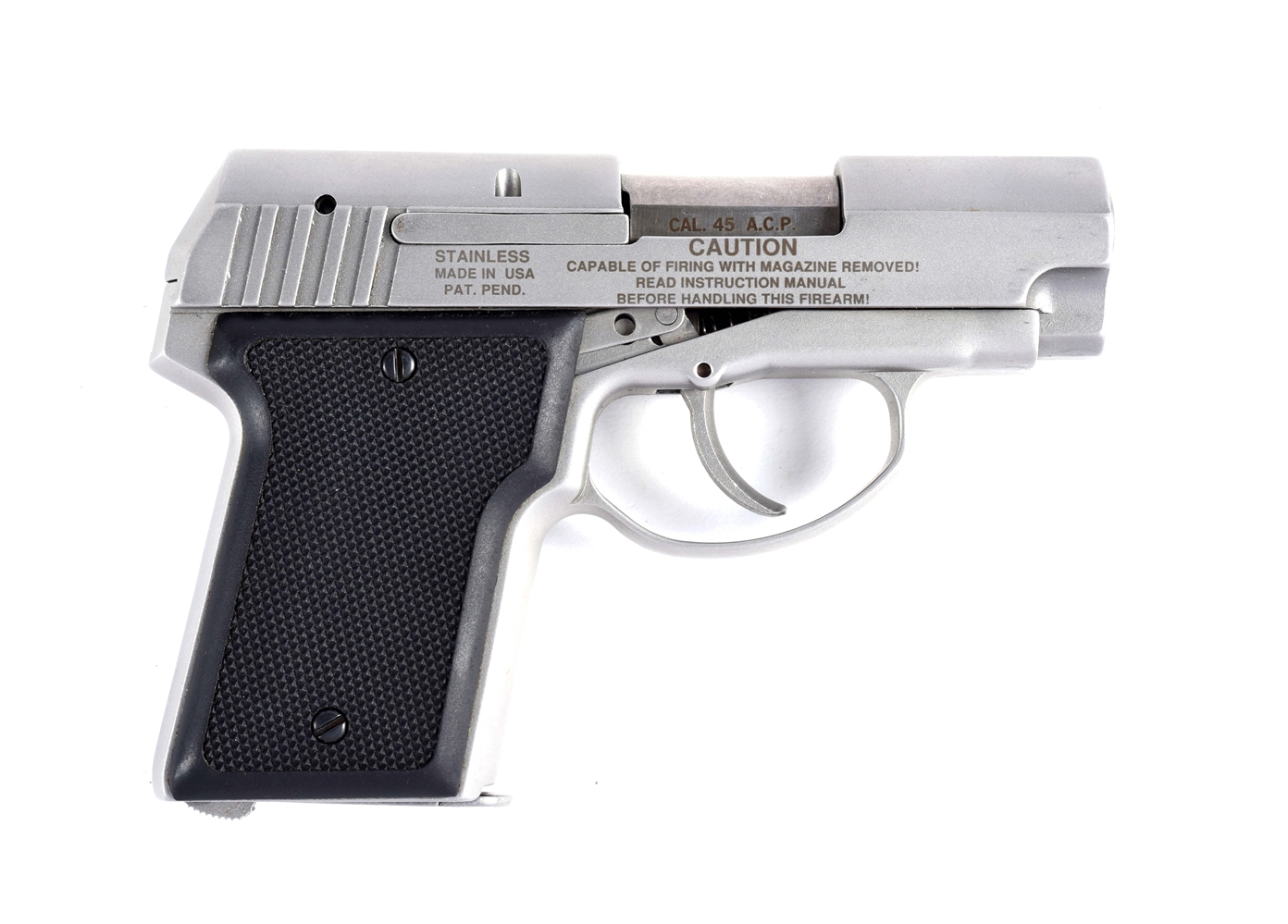 (M) Cased AMT .45 ACP Back-Up Semi-Automatic Pistol.