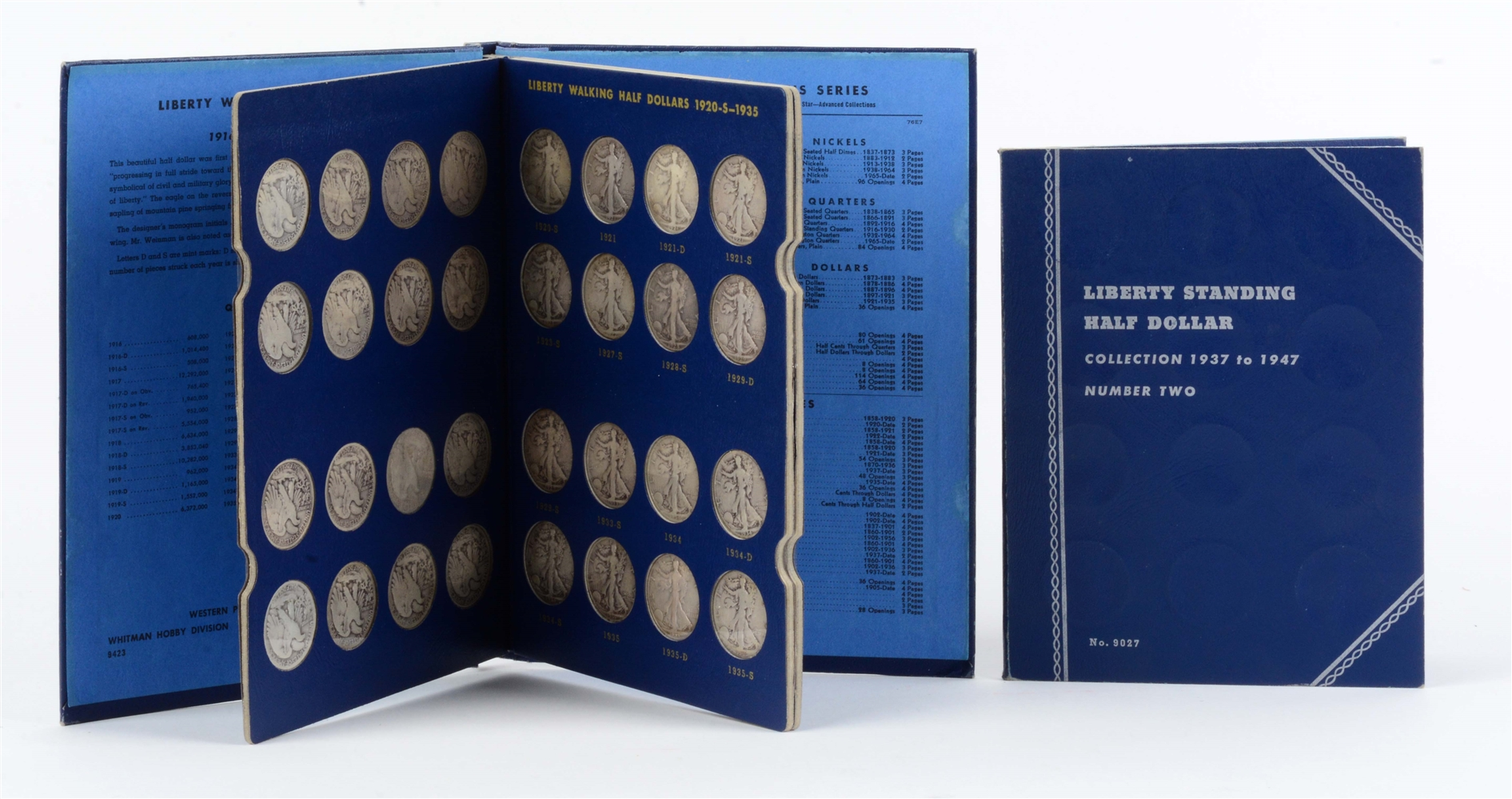Walking Liberty Half Dollar Collection in Two Albums.