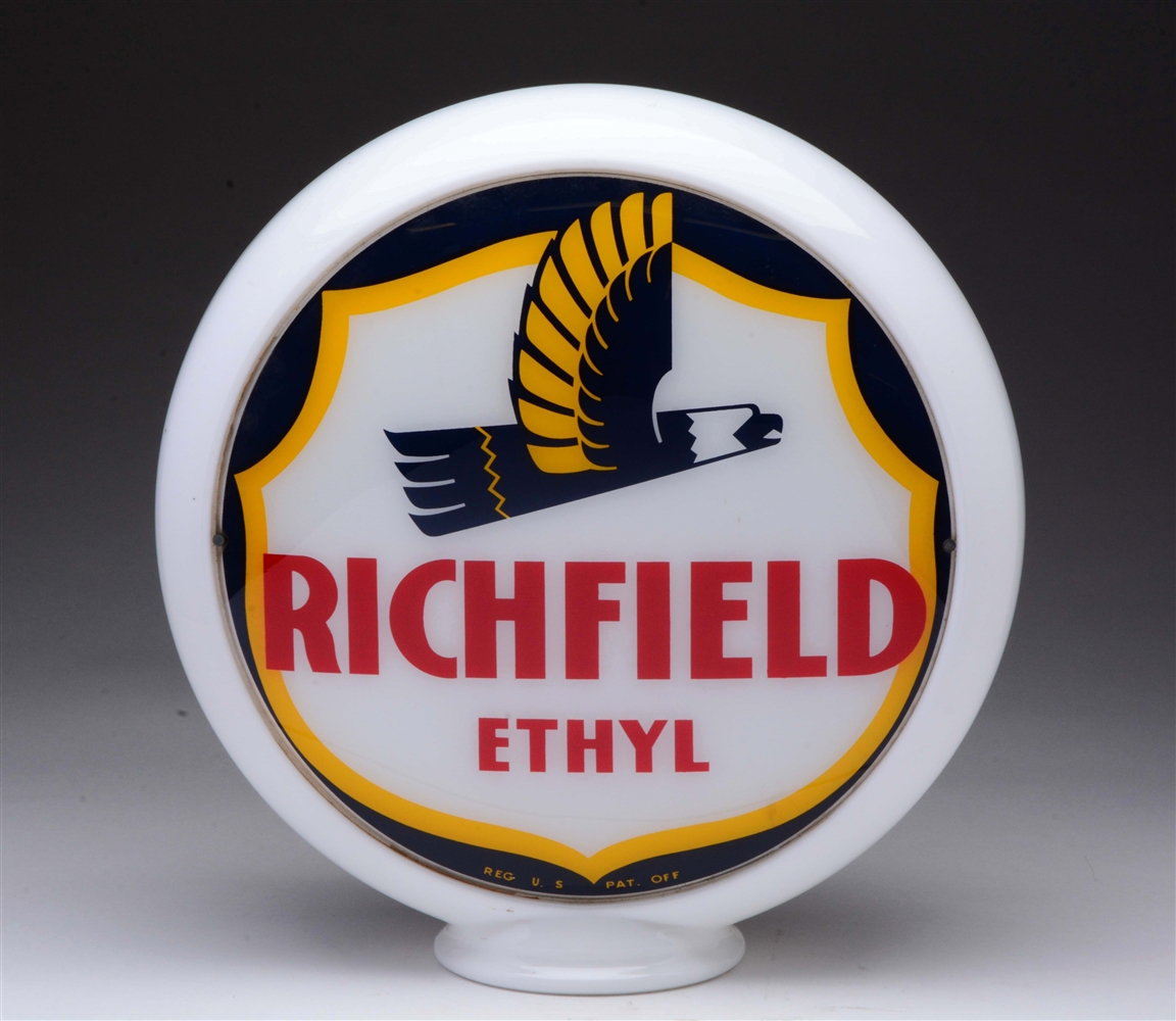 "Richfield w/ Art Deco Eagle 13-1/2"" Globe Lenses."