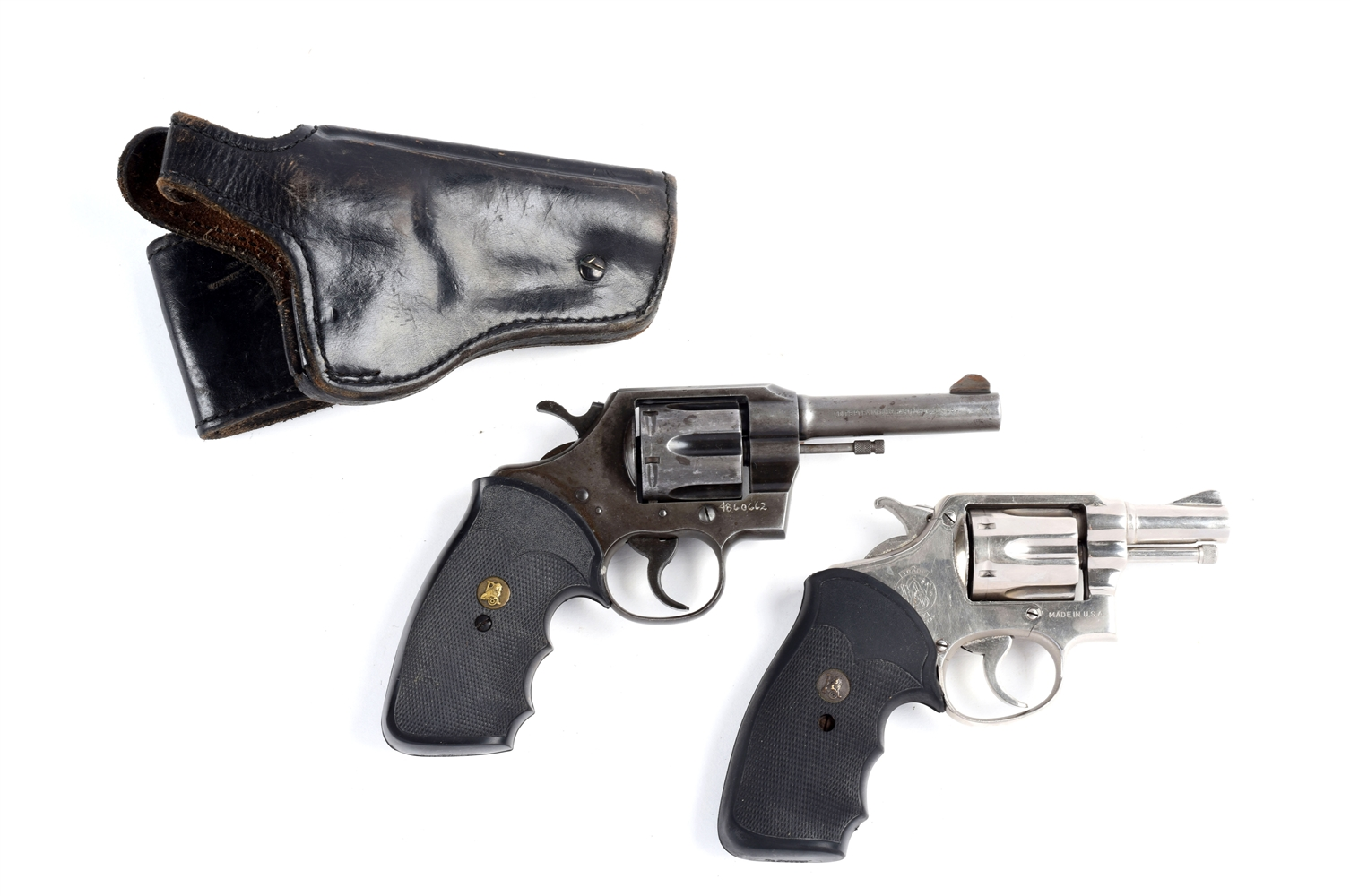 Lot of 2: Vintage .38 Special Colt and S&W Double Action Revolvers.