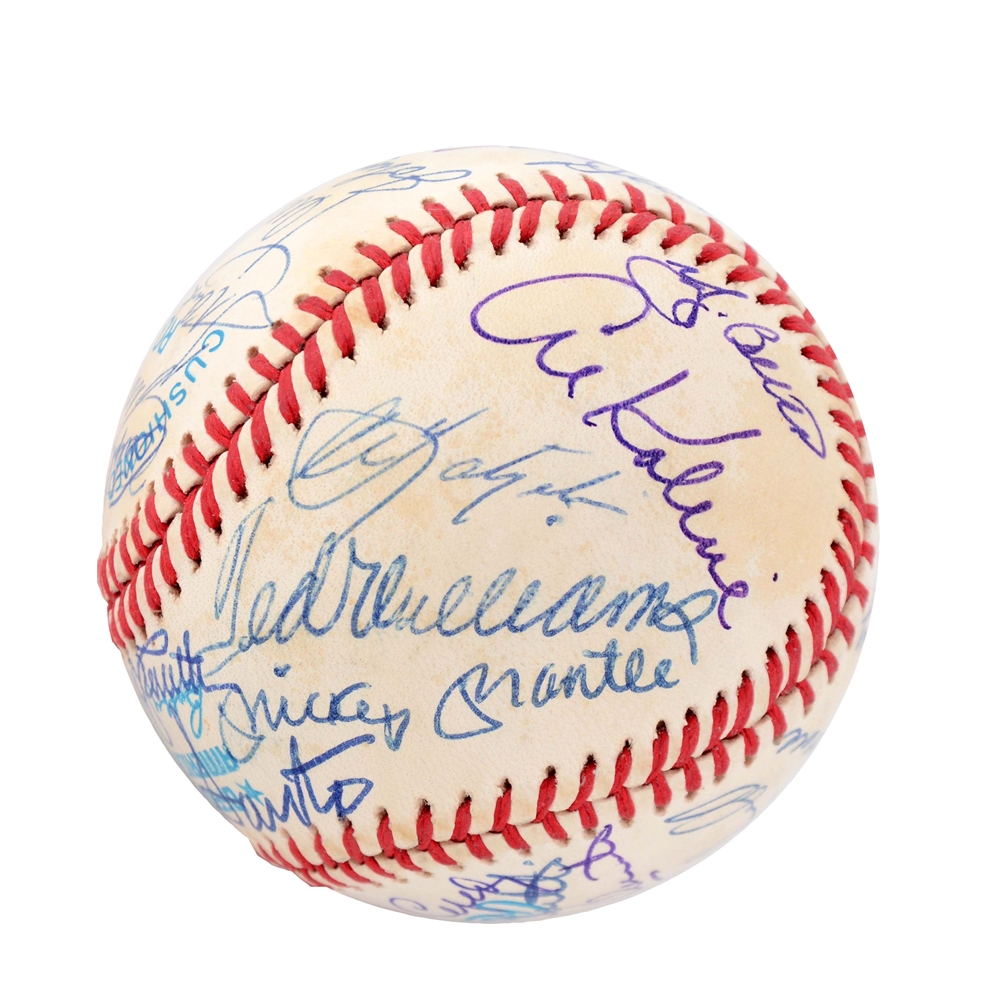 300 Home Run Club Signed Baseball w/ Mickey Mantle & Ted Williams.