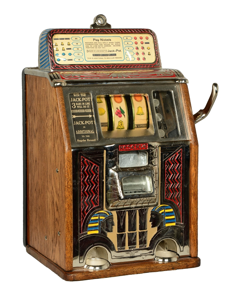**5¢ Caille Silent Sphinx Slot Machine.