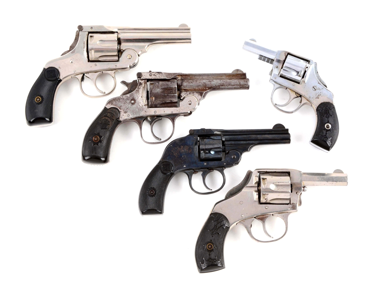 (C) Lot of 5: Double Action Revolvers.