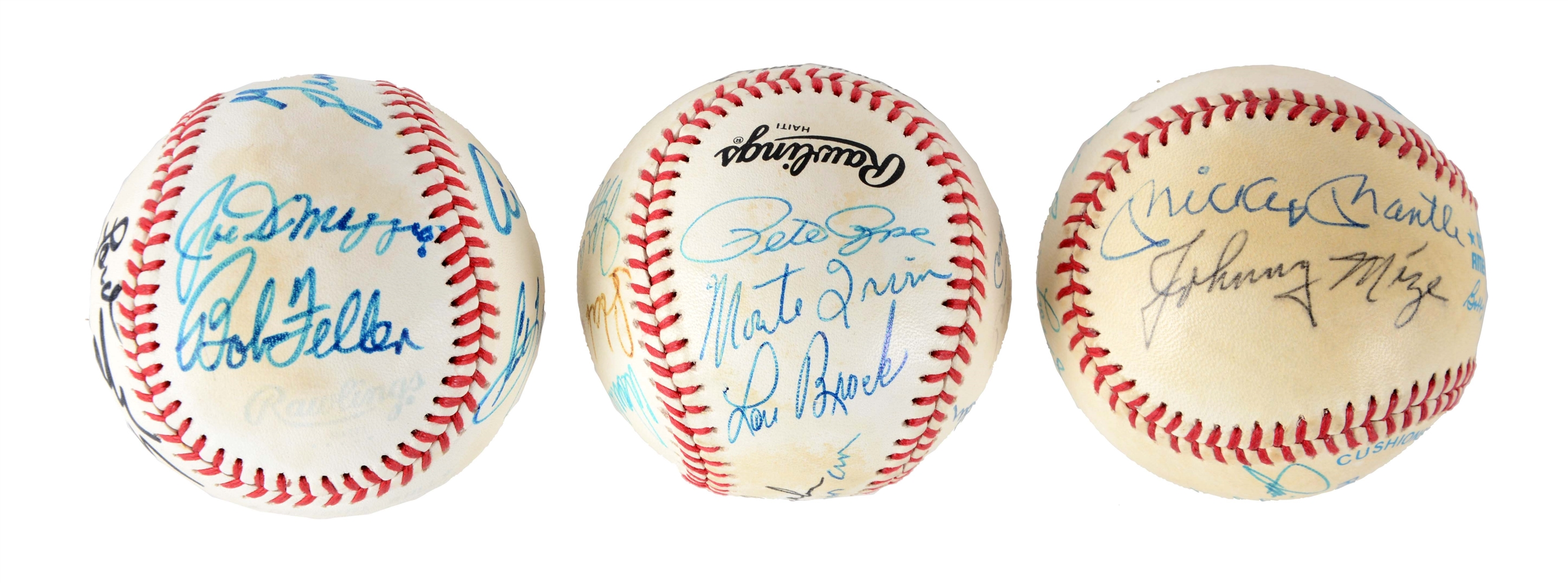 Lot of 3: Collection of HOF Signed Baseballs.