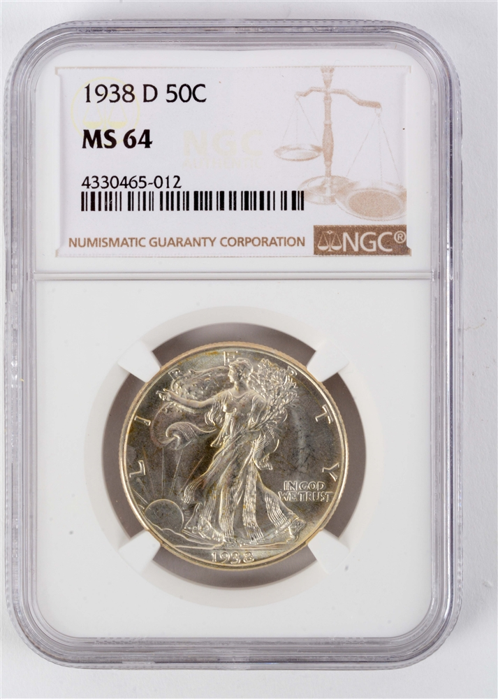 1938 D Walking Liberty Half Dollar.