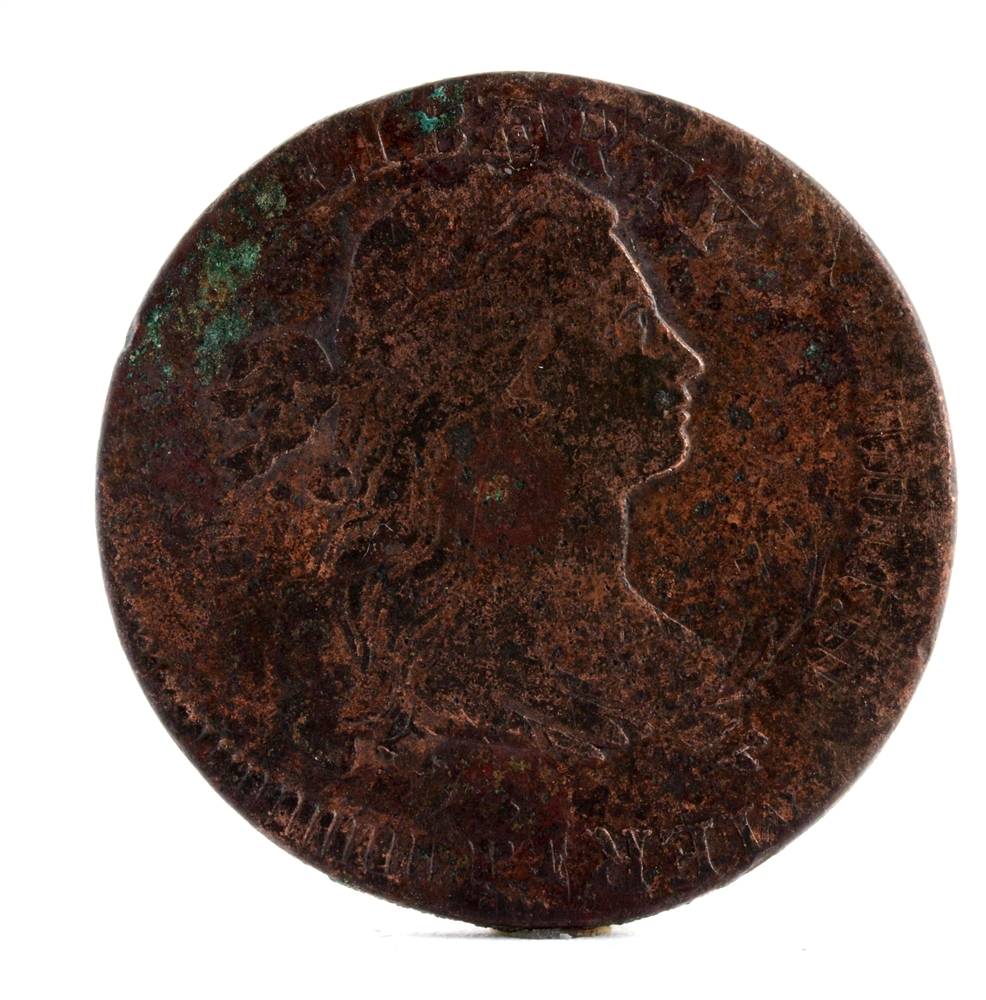 1797 Flip Over Triple Struck Large Cent.