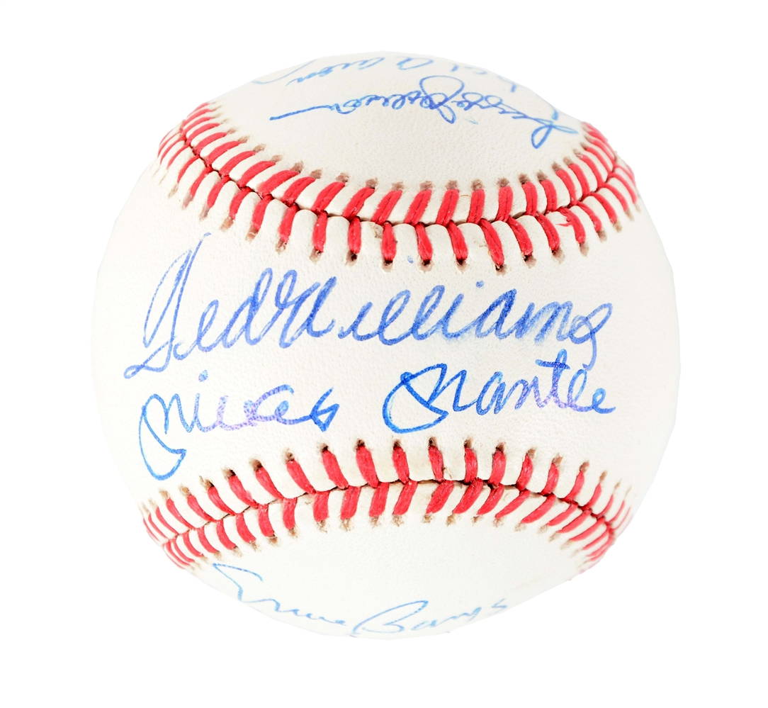 500 Home Run Club Signed Baseball.