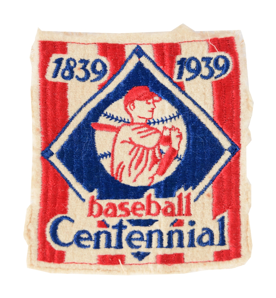 1939 Baseball Centennial Uniform Patch.