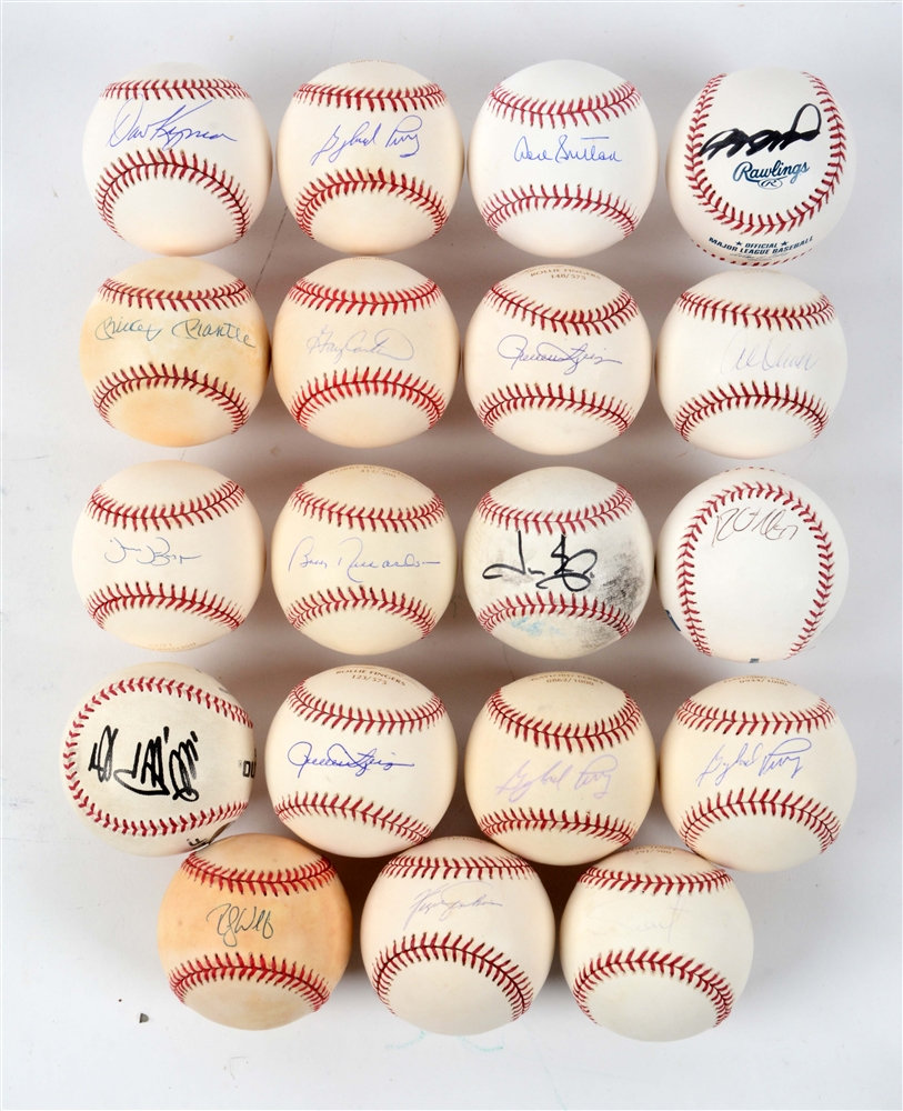 Lot of 24: Autographed Baseballs.