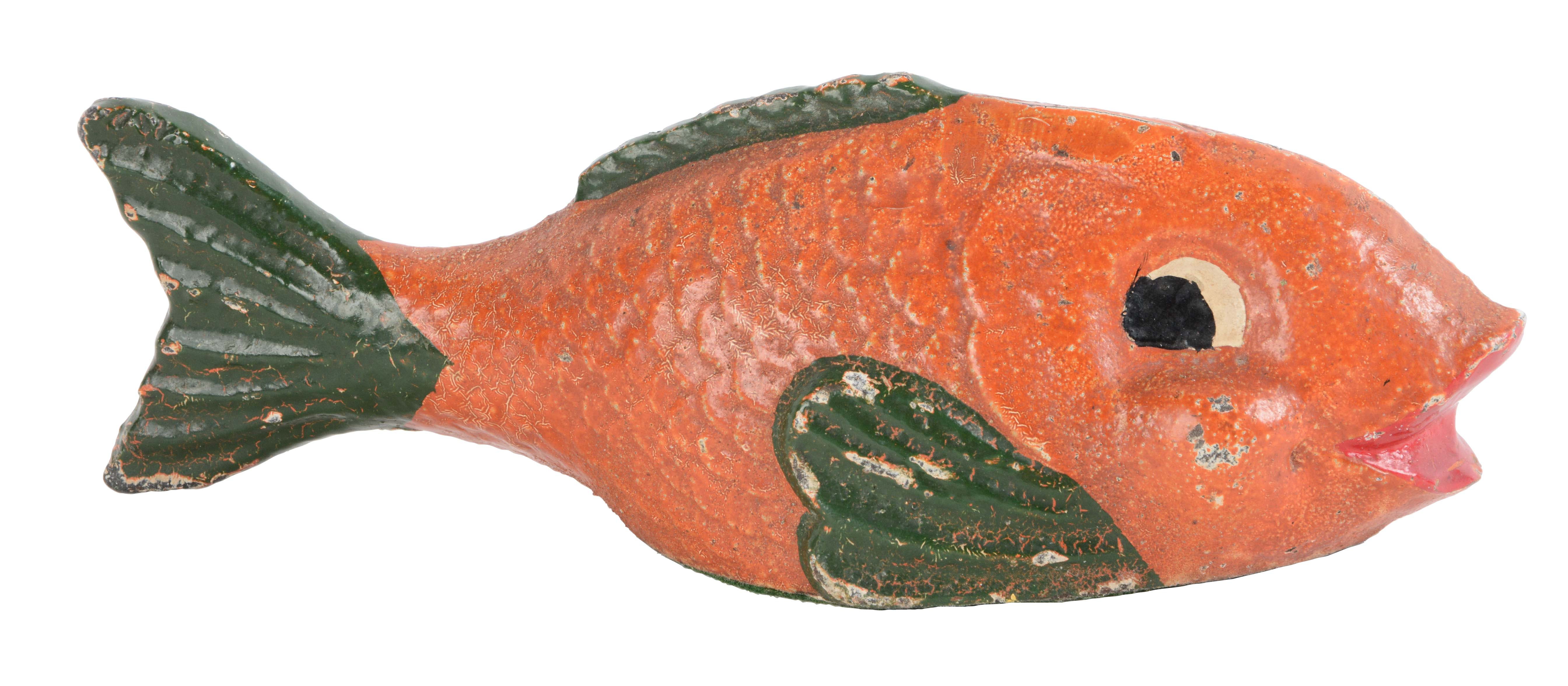 Lot detail cast iron fish doorstop for Cast iron fish