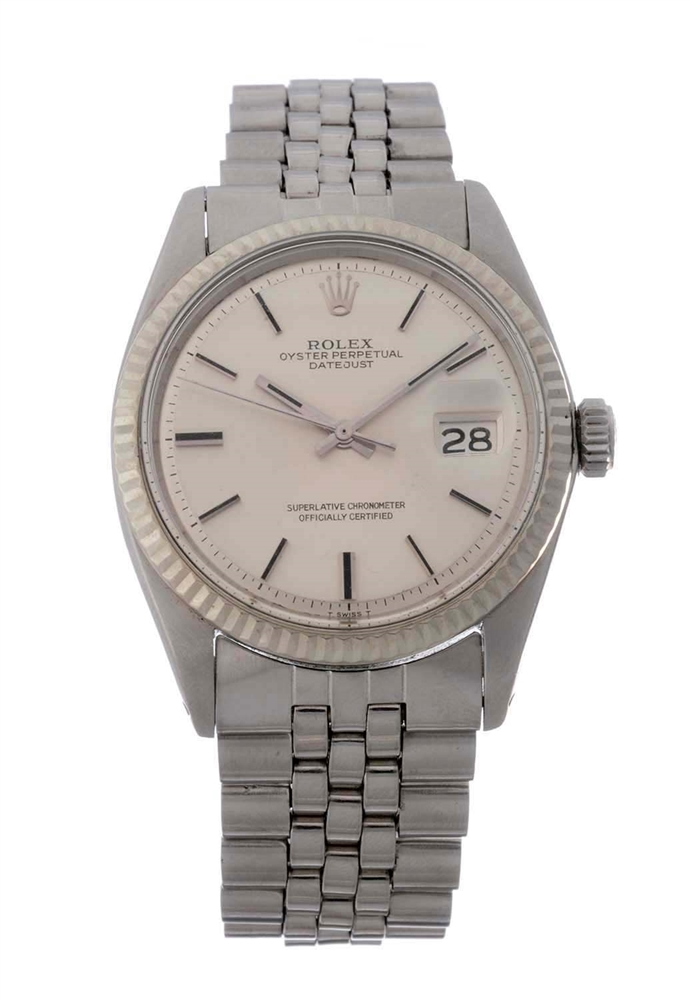 Vintage Rolex Stainless Steel Datejust Wristwatch Model Number 1600.