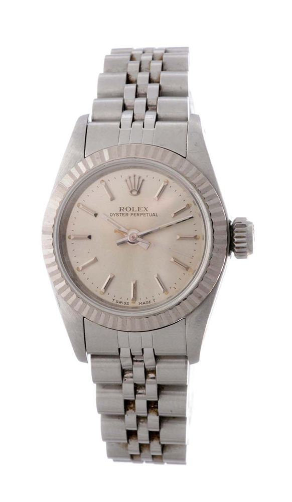 Rolex Stainless Steel Ladies Datejust Wristwatch Model Number 67194.