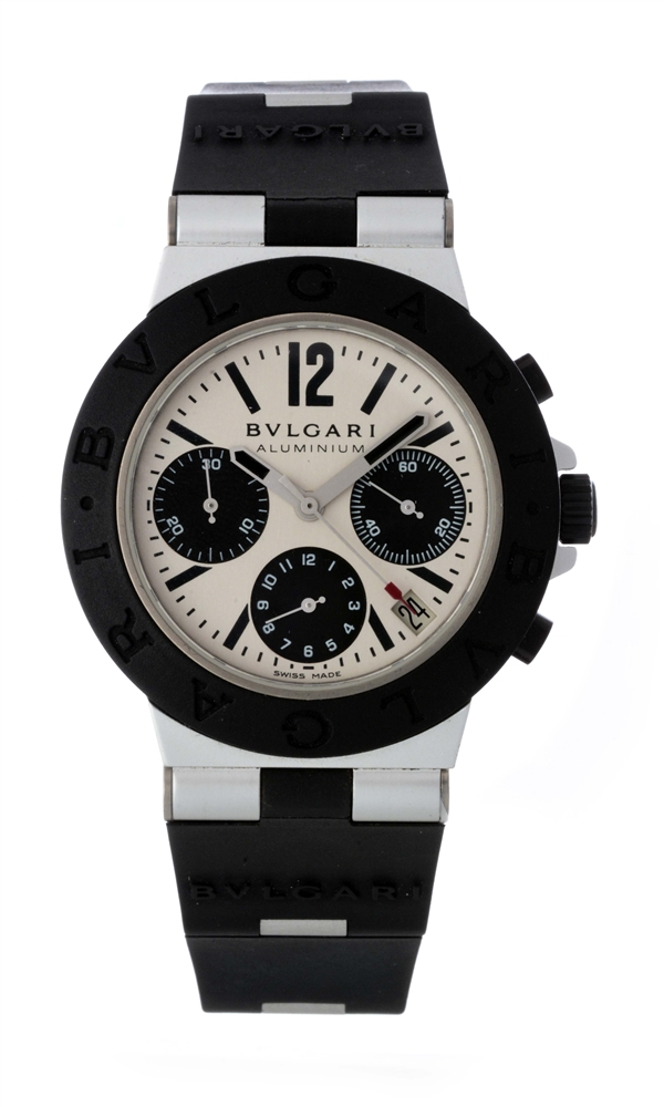 Bvlgari Aluminum Automatic Chronograph Wristwatch Model Number L610.