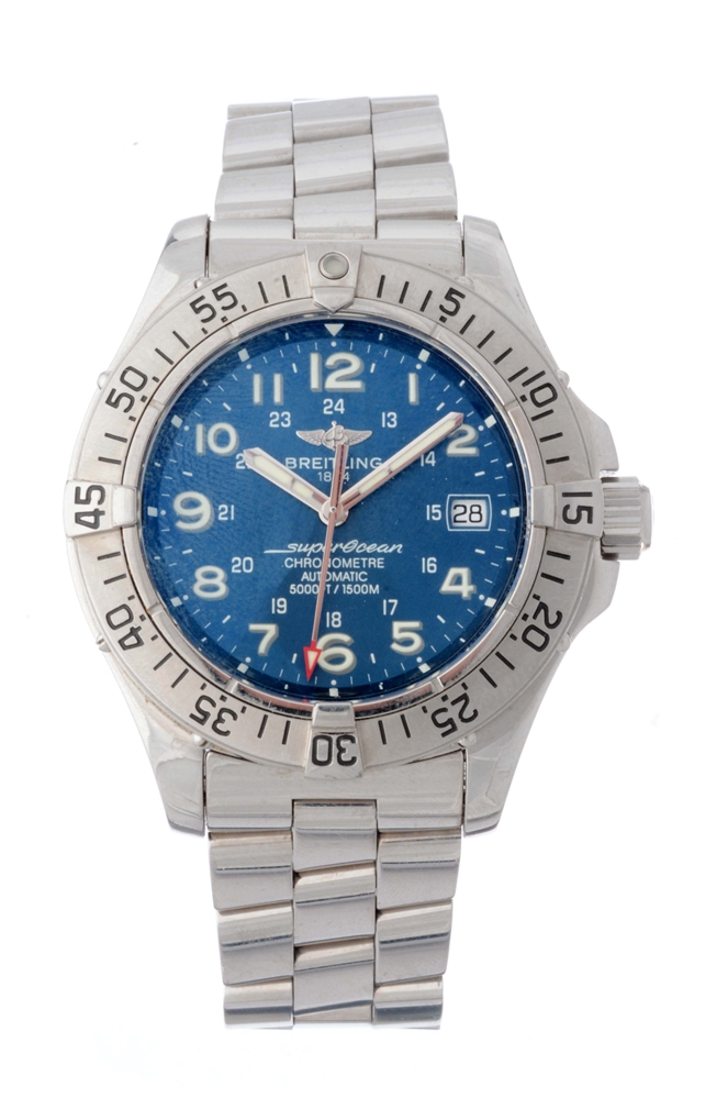 Breitling Stainless Steel SuperOcean Wristwatch Model Number A17360.