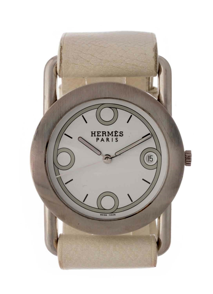 Hermes Stainless Steel Wrap Wristwatch Model Number BR1.710.