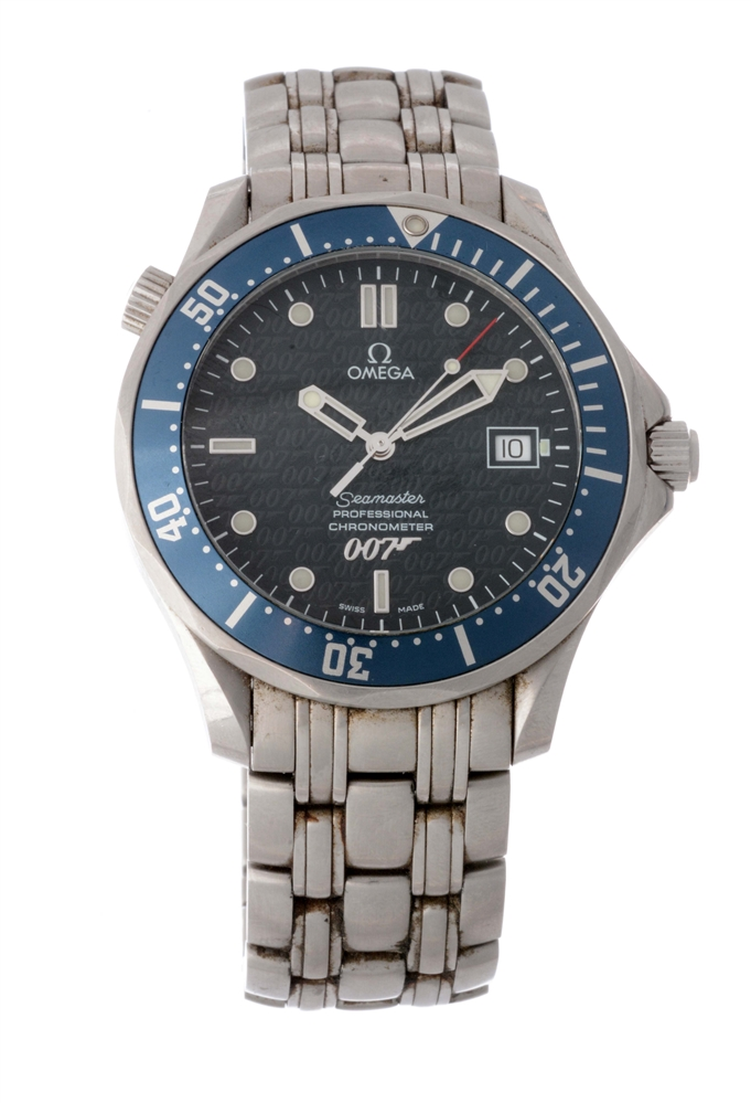 "Omega Stainless Steel Seamaster Limited Edition ""40 Years Of James Bond"" Wristwatch Model Number 168 1626."