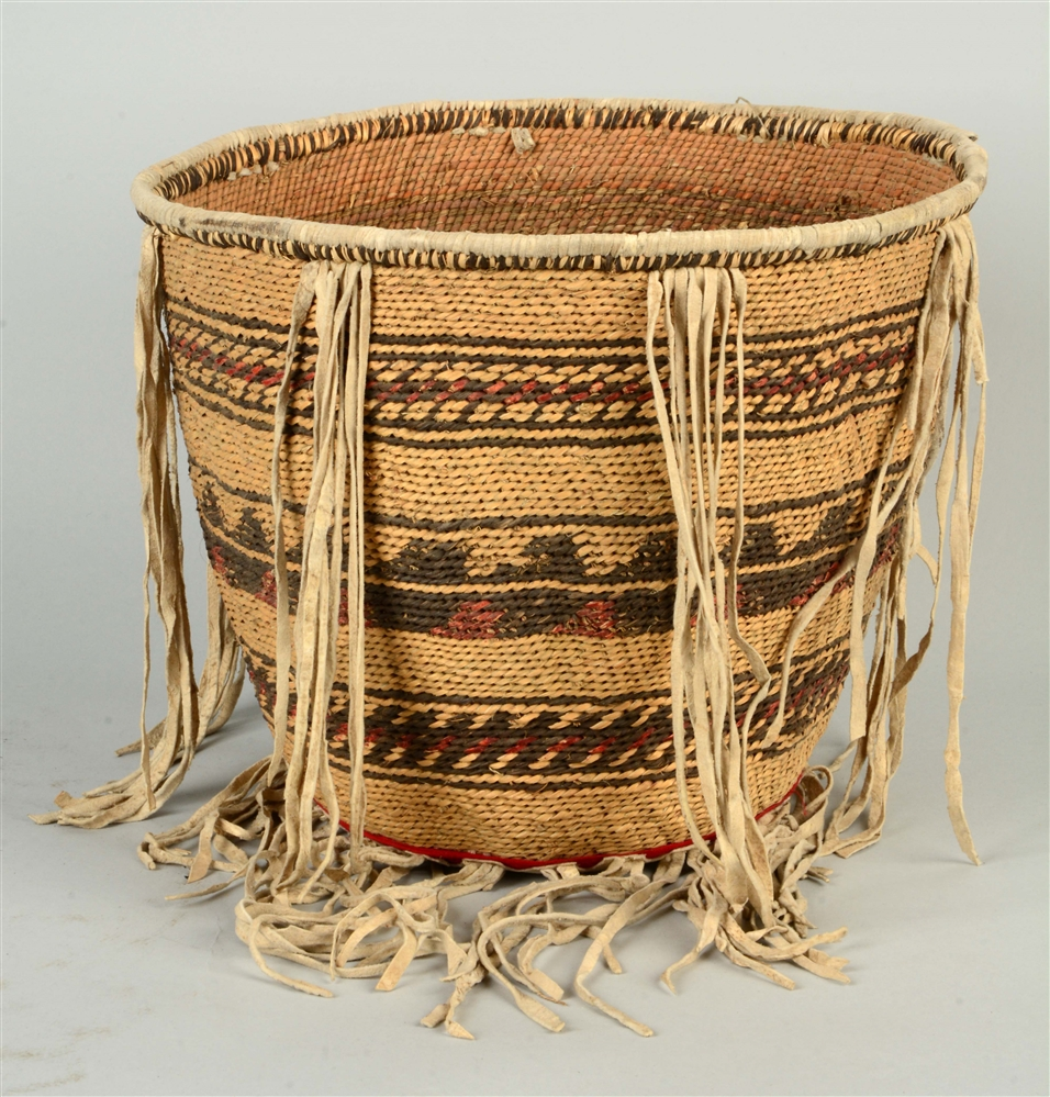 Apache Twined Burden Basket.