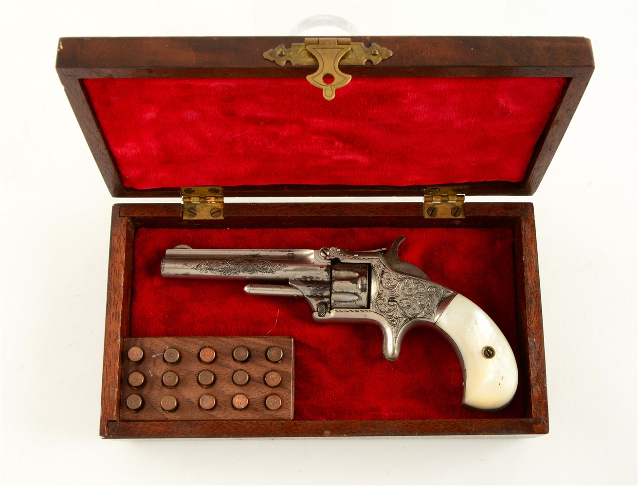 (A) Factory Engraved & Cased S&W No. 1 Single Action Revolver.